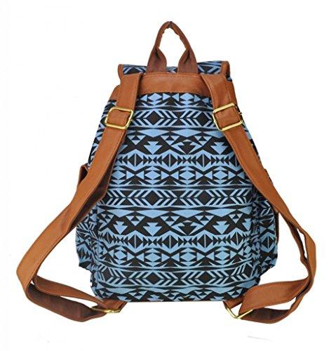 Mädchen-Damen-Freizeit-Rucksack Tier Printed Bag Reiserucksack 12#