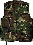 Outdoor Jagd- Angler Weste mit vielen praktischen Taschen? Farbe Woodland Größe M