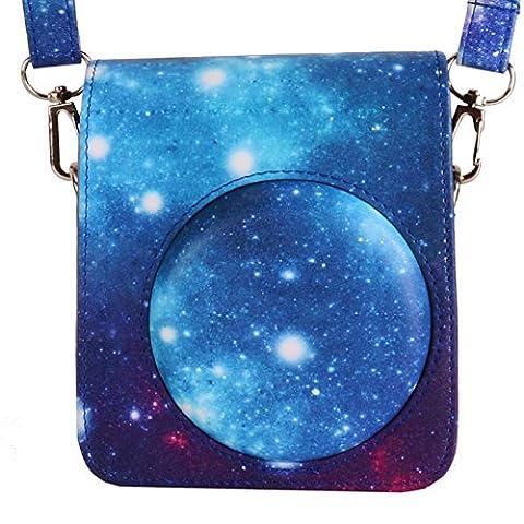 WOODMIN Galaxis Sternenklarer Himmel Kameratasche Tasche Schutzhülle aus PU Leder für Fujifilm Instax Mini 70 Classic Kamera