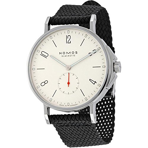 nomos-glashuette-mens-ahoi-40mm-black-cloth-band-steel-case-automatic-white-dial-analog-watch-550