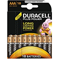 Duracell Plus Power Type AAA Alkaline Batteries, pack of 18