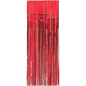 Amscan International-24200-4091cm x 2,43m Apple rojo cortina para puerta