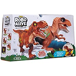 Tobar 7110B Robo Alive - Robotic, diseño de Dinosaurio, Color Naranja