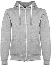 Herren Sweatjacke Hoodie Pullover Herren Pulli Hoodie sweatshirt (XL, Grau)