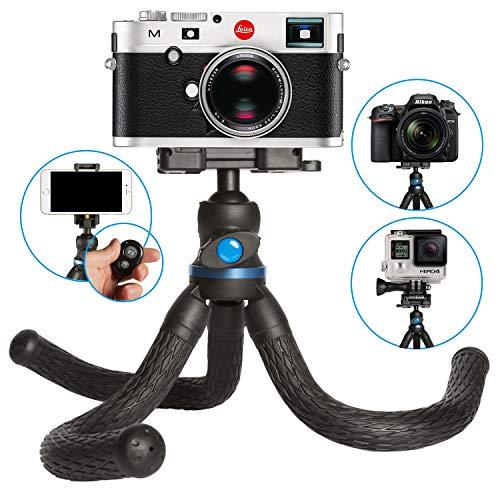 PIXART Kamera Stativ 3 in 1 mit 360° Kugelkopf für Kamera, Smartphone + GoPro mit Bluetooth Fernauslöser, 3kg Tragfähigkeit