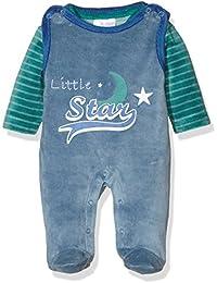 Twins Baby-Jungen Bekleidungsset Strampler-Kombi aus Velours Little Star