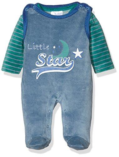 Twins Baby-Jungen Bekleidungsset Strampler-Kombi aus Velours Little Star, Blau (Marine 3011), 68