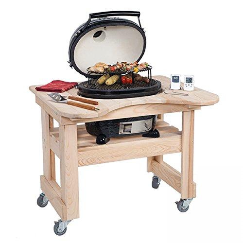 Tisch aus Zypressen-Holz für den Primo Oval Junior - Oval Junior Grill