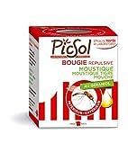 PicSol - Candela repellente per mosche e zanzare attive, 100% vegetale