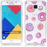 Galaxy A3 (2016) Coque, SATURCASE Transparent Ultra Mince Flexible Doux TPU Gel Silicone Housse Étui Coque Pour Samsung Galaxy A3 (2016) SM-A310F (Seulement pour A3 2016 édition) (Color-10)