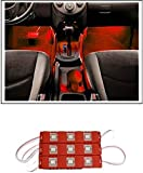 #9: Guance 9 LED Custom Cuttable Bike/ Car Red Light for Interior/ Exterior For Chevrolet Beat