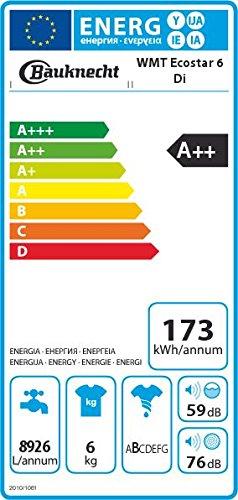 Bauknecht WMT EcoStar 6 Di Waschmaschine A++ / Toplader / 1200 UpM / 6 kg / Green Intelligence /  Kurz 15  Schnelle Wäsche in 15 Min. / Small display / Vollwasserschutz  /  Hygiene+ Programm  / Weiß - 2