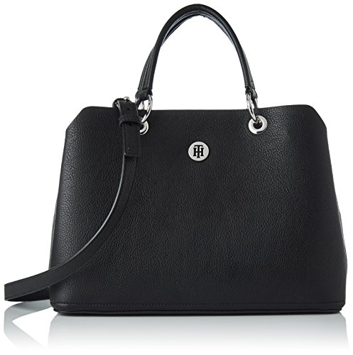 Tommy Hilfiger Damen TH Core Satchel Henkeltasche, Schwarz (Black), 15.5x23x33.5 cm