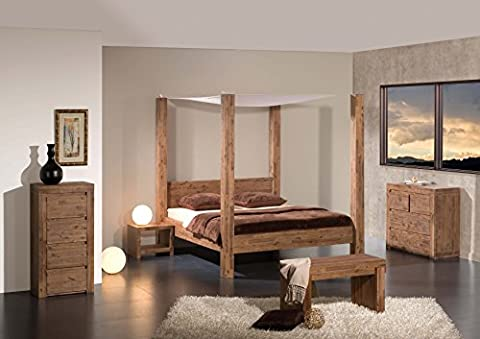 Modular Santa Rosa Himmelbett, Holz, natur, 220 x 165 x 200 cm