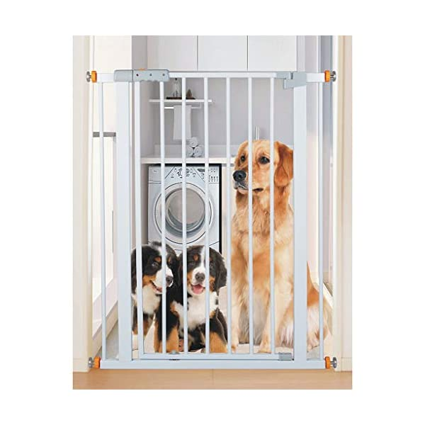 Child safety gate bar baby stair door pet dog fence indoor large dog stairs barrier fence AA-SS-Safety Door ♥Squeeze and lift handle for easy one handed adult opening ♥Quick-release fittings for removal when not required ♥Includes stop pins for mounting at the top of stairs 8
