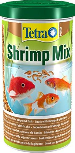 Tetra Pond Shrimp Mix Ergänzungsfutter (Leckerbissen für Teichfische aus natürlichen Shrimps und Gammarus, schwimmfähige Futtermischung), 1 Liter Dose