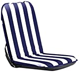 Comfort Seat Classic Regular - mobiler, tragbarer Komfortsitz, blau/weiß gestreift - für Camping, Strand, Garten, Boot