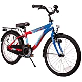 BIKESTAR® Premium Kids Bike ★ For safe and carefree joy of playing kids aged from 6 years ★ 20s Modern Edition ★ Blue & Red