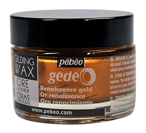 pebeo Gédéo Vergoldung 30ml, Wachs, Renaissance Gold, 5,5x 5,5x 4,5cm