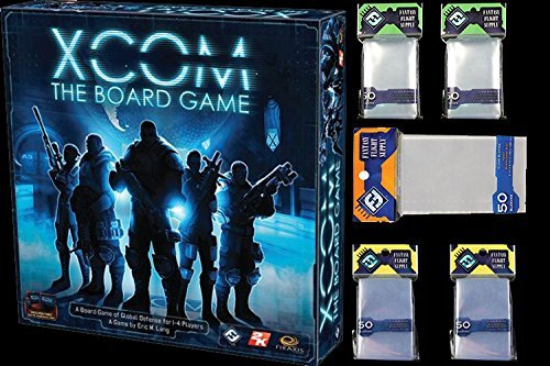 XCOM: The Board Game Premium Bundle + Fantasy Flight Board Games Sleeves 2 x Mini US - 2 x US Standard - Tarot