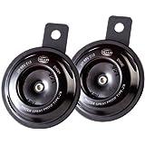 HELLA 012588011 Motorcycle Series Black 12V Disc Horn Kit (Universal Fit-Set/Box)