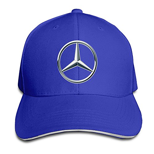 yhsuk-mercedes-benz-logo-sandwich-peaked-hat-cap-royalblue