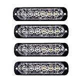 XZANTE 4 PZ 6-LED Luce Veloce Emergenza Auto Veicolo Avvertimento Strobe Lampeggiante Blu