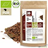 Naturteil - LEINSAMEN GANZ BIO / Superfood in Rohkostqualität, FLAX SEEDS, Organic, Raw, Vegan - 500g