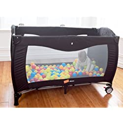 Babyway BWMLTC Koochiku Mimas Luxury Baby Travel Cot - Black