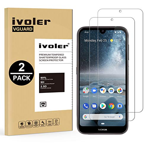 VGUARD Pack de 2 Verre Trempé pour Nokia 4.2, Film Protection en Verre trempé écran Protecteur vitre - Anti Rayures - Ultra Résistant Dureté 9H pour Nokia 4.2