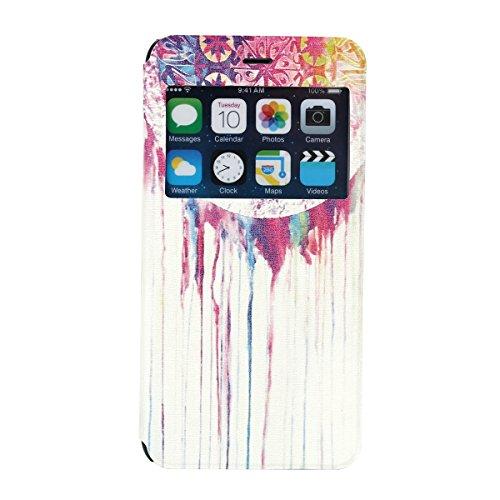 """MOONCASE pour iPhone 6 Plus (5.5"""") Case Coque en Cuir Housse de Protection Étui à rabat Case Mi26 Mi18 #1130"""
