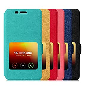 TapFond Window Slim PU Leather Protective Flip Cover Case Stand Case Window Cover case for Xiaomi Redmi 2 Prime Black Color