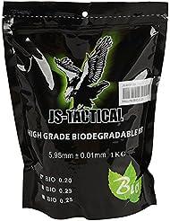 5000 bolsa bio bola de airsoft biodegradables 6 mm 0,20 gramos js-táctico