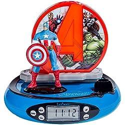 Radio Despertador Capitan America con proyección de la Hora