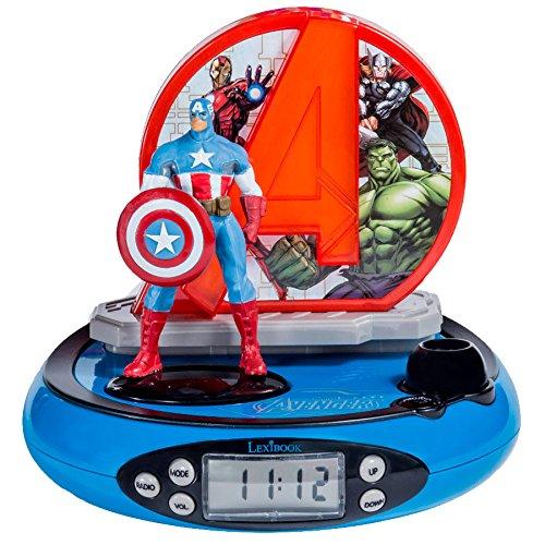 Lexibook RP500AV Marvel The Avengers Radio, Alarm, nightight, Projector