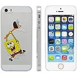Phone Kandy®–claro/transparente fijación a presión carcasa rígida y protector de pantalla para iPhone historieta divertida funda, plástico, Spongebob, iPhone 6 Plus (5.5 inch)