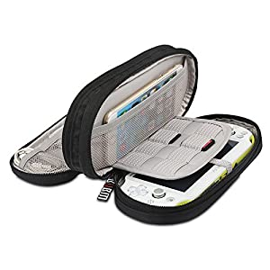 BUBM Travel Double Compartment Carry Case Cover For PS Vita 1000 , PSV 2000 with Cover Protective Accessories Storage Bag
