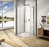 800x800mm Quadrant Shower Enclosure Walk In Cubicle Door Anti-glare Frame NEXT WORKING DAY DELIVERY