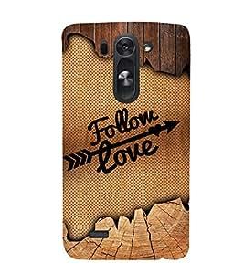 Follow love Design 3D Hard Polycarbonate Designer Back Case Cover for LG G3 Beat :: LG G3 Vigor :: LG G3s :: LG g3s Dual