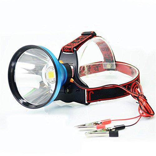 Torcia fari torcia 12V alta potenza Super luminoso minatore di pesca lampada LED abbagliamento astigmatismo collegato alle luci della batteria,luce bianca