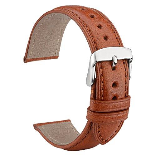 WOCCI 20mm Cinturini per orologi in pelle con fibbia in acciaio...