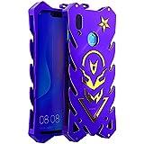"Huawei Y9 (2019) Case, BINGRAN Luxury [Vulcan Series] Hollow Design Full Signal Aviation Aluminum Metal Hard Rugged Strong Protection Case Cover for Huawei Y9 (2019)/Enjoy 9 Plus 6.5"" Purple"