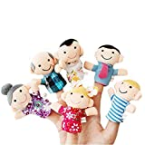 LATH.PIN 6x Fingerpuppen-Set Familienmitglieder Puppe Puppentheater Handpuppe Spielzeug Kinder Lustig (Children One Size, 02)