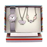 The Olivia Collection set regalo ragazze orologio & gioielli con corona KS003