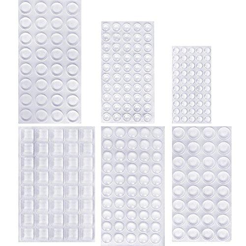 254 StückKlarer Gummi Füße Stoßfänger Möbel Puffer, Kleber Transparente Puffer Pads Schrank Tür Stoßfänger Self Stick Lärm Dämpfung Pads, 6 Größen -