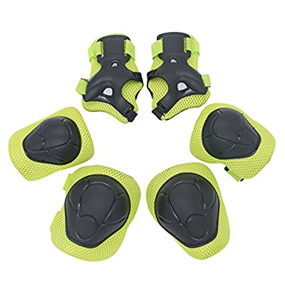 YAKOK Kids Helmet Set, 7pcs Beetle Design Kids Helmet Safety with Protective Gear Set for Bike Scooter Skateboard Skate for Child Boys and Girls, Age 3-12, 50-54CM by YAKOK
