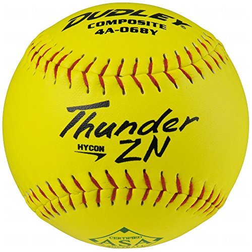 ycon Zn Slow Pitch Softballs 12 Ball Pack by Dudley ()