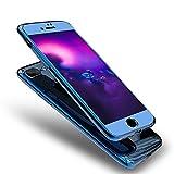 iPhone 6S Hülle,iPhone 6 Schutzhülle Spiegel,Urhause 360 Grad Hart PC Schutzhülle [Front + Back Rundum Double Protective],360 Grad Komplettschutz Vorder und Rückseiten Plastik Überzug Mirror Effect Hülle Ganzkörper-Koffer Double Side Full Body Vorne Hinten Beidseitiger 360°Schutz Hardcase Handyhülle Stoßdämpfend Komplette Gehäuse Crystal Clear Dünne Weichem Flexible Hartschale Handy Gürtel Tasche Hülle Case Cover Fall-Abdeckung Etui Bumper Schale für Apple iPhone 6/6S 4.7