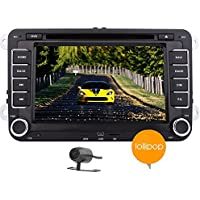 Macchina fotografica 7 '' Quad Core Android 5.1 Lollipop Capo Unit¨¤ per la Jetta Golf EOS Passat Polo 2 din in precipitare HD Capativie touch screen lettore DVD supporto stereo 3D di navigazione GPS Auto Radio Subwoofer 1080P Multimedia sistema 3G WIFI CAM-IN OBD2 DAB +