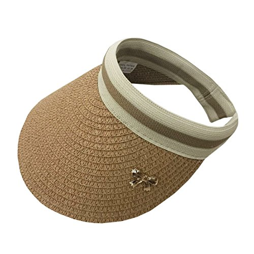 ACVIP Women's Straw Summer Visor Hat Headband